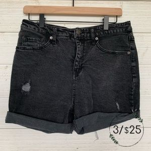 Wild Fable Black High Rise Mom Jean Shorts